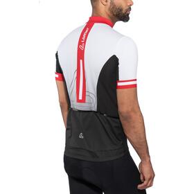 Löffler Racing Bike Jersey Full-Zip Herren weiß/rot